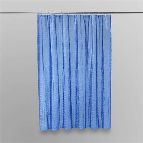 blue bathroom curtains lush decor surf blue shower curtain home bed bath