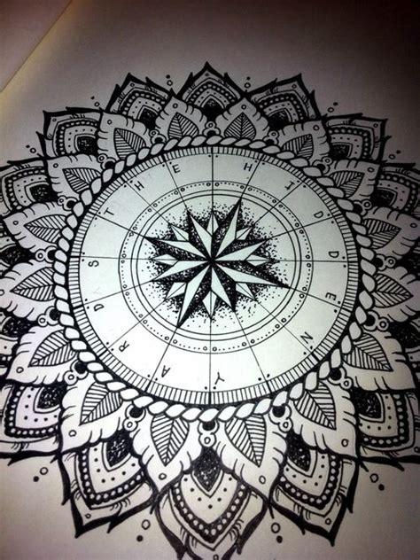 mandala compass tattoo mandala compass tattoo inspiration pinterest mandala