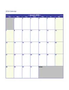 Blank Calendar Template 2018 Ber 2015 Calendar Calendar Template 2016