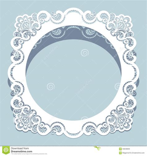 paper lace templates card square cutout paper lace frame stock vector image 56848836