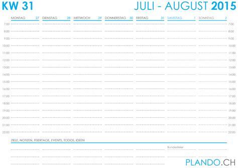 Wochen Kalender 2015 Jahreskalender 2015 Zum Ausdrucken Plando Ch