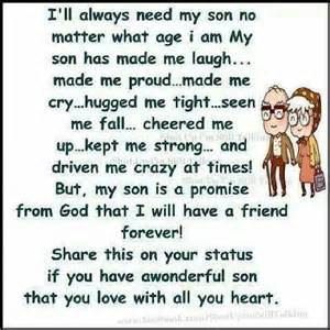 Love Quotes For Your Son by I Love My Son Quotes Quotesgram