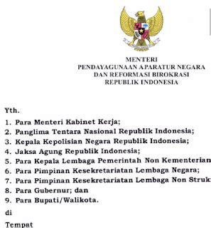 Hukum Kepegawaian Di Indonesia Eds 2 ini surat edaran menpan rb pns bakal wajib kumpulkan