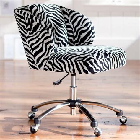 Zebra Desk Chair by Zebra Jacquard Wingback Desk Chair Pbteen