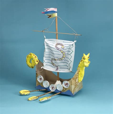 How To Make A Viking Longship Out Of Paper - how to make ship crafts