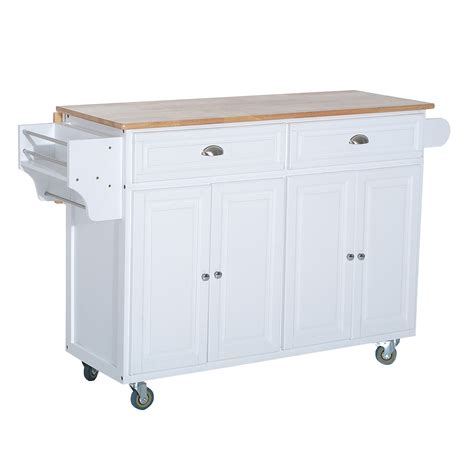 rolling kitchen island cart homcom modern rolling storage cart with wood top kitchen island kitchen carts kitchen