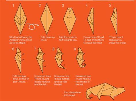 origami chameleon favecrafts