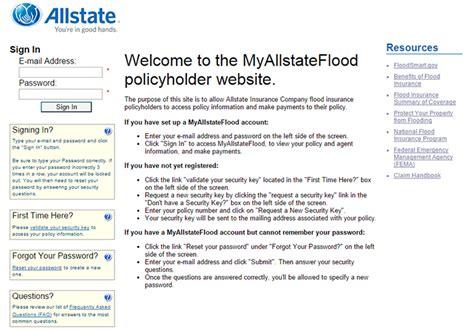 Allstate Flood Insurance Login   Make a Payment
