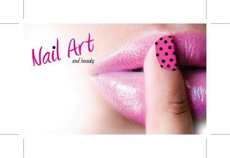 Nails Business Cards Design