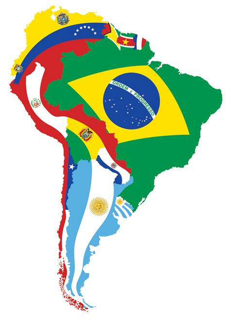 south america map with flags south america other maps