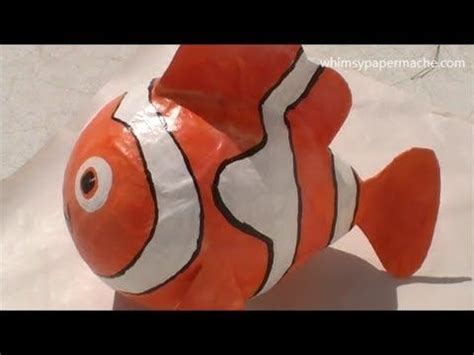 How To Make Paper Mache Fish - how to make a paper mache nemo clown fish comment