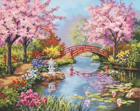 Paintings Of Flower Gardens Your Place Peaceful Japanese Gardens