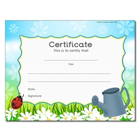 reward certificate templates certificates and rewards primary treasure chest