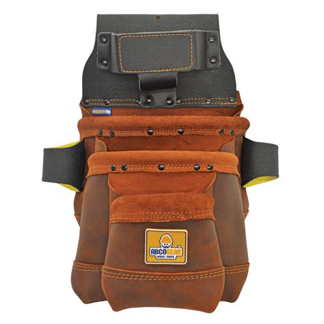 husky 10 5 in 10 pocket suede leather carpenter tool bag