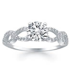 Infinity Engagement Rings Infinity Engagement Ring In 14k White Gold