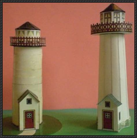lighthouse template craft two lighthouse paper models free templates