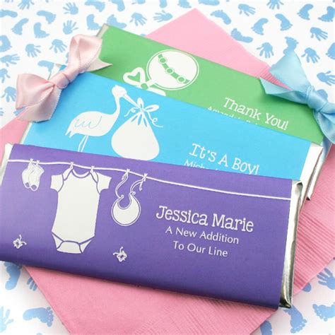 Personalized Bars For Baby Shower by Baby Shower Personalized Chocolate Bar Favors Gift Baskets