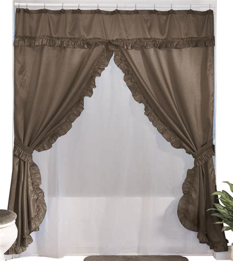 swag shower curtains with valance walterdrake double swag shower curtains with valance