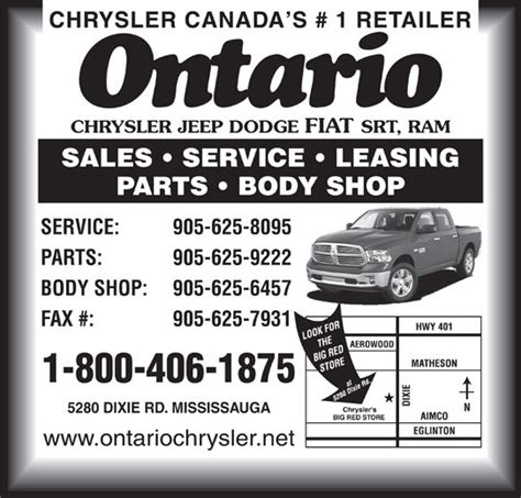 Ontario Chrysler Jeep Ontario Chrysler Jeep Dodge Sprinter Mississauga On