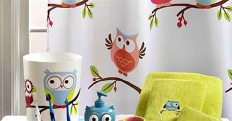 hooty owl bathroom set quot hooty quot hoot owl collection shower curtain hooks owls