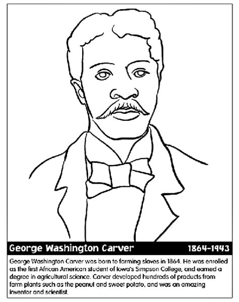 free coloring pages of george washington carver george washington carver coloring page crayola com