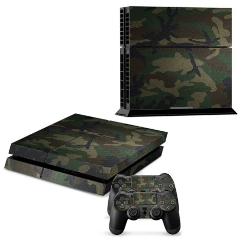 Skin Playstation 4 Ps4 Camo Camouflage 01 aliexpress buy army camo protector skin sticker for playstation 4 ps4 console 2pcs