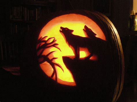 wolf pumpkin template 70 best cool scary pumpkin carving ideas