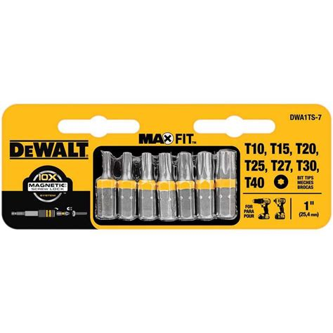dewalt 7 1 inch torx security drill bit tip set