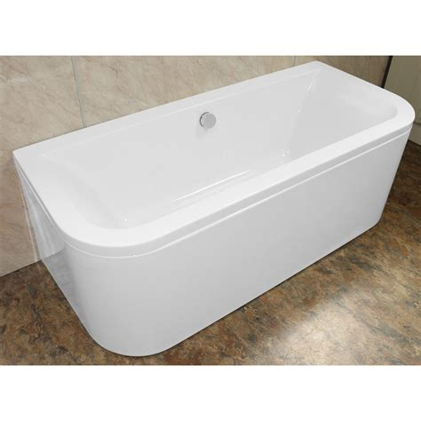 bathtub shapes eden d shaped 1700 x 750 double ended back to wall bath 163
