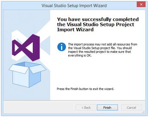 tutorial visual studio setup project importing converting a visual studio setup project