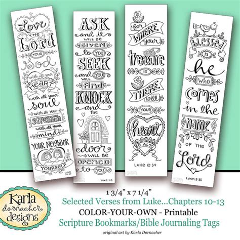 printable religious easter bookmarks luke 10 13 color your own bookmarks bible journaling