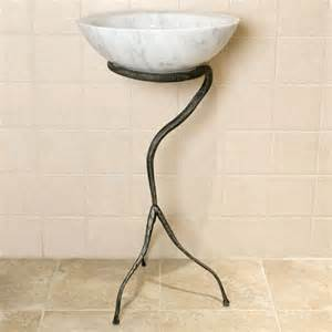 bathroom sink stand tyrin wrought iron sink stand gunmetal pedestal sinks