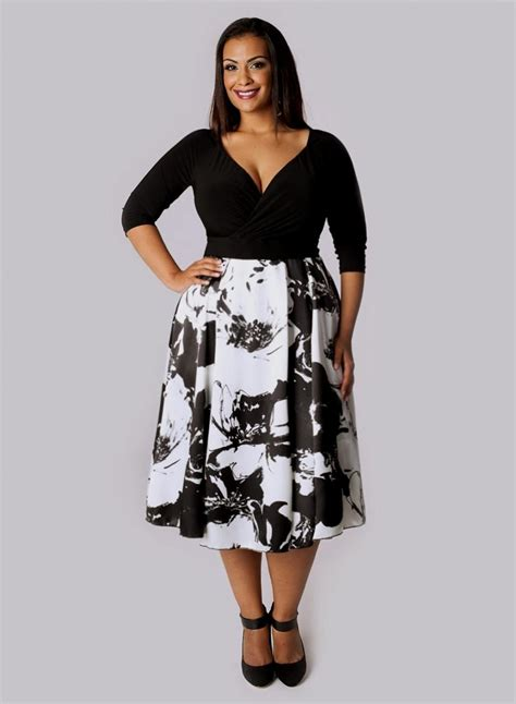 Black White List Dress black and white plus size dresses csmevents