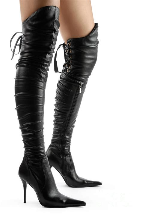 boots boots photograph black thigh high