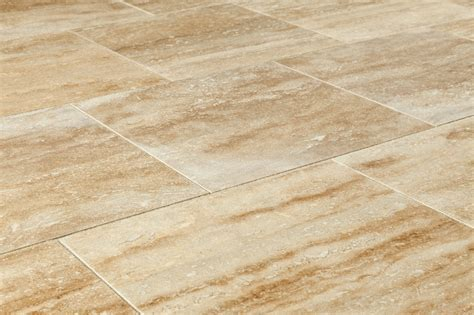 "Izmir Travertine Tile   Polished Walnut Vein Cut / 12""x12"