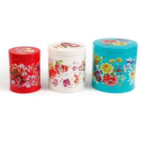 walmart kitchen canister sets the pioneer garden meadow 3 tin canister set