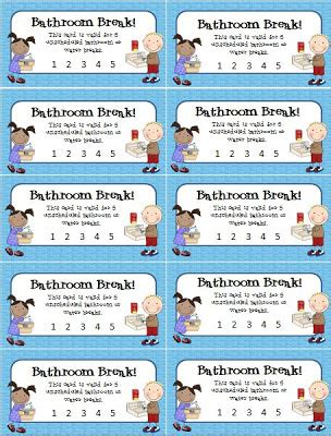 going to the bathroom too often bathroom break punch cards to help curtail students who