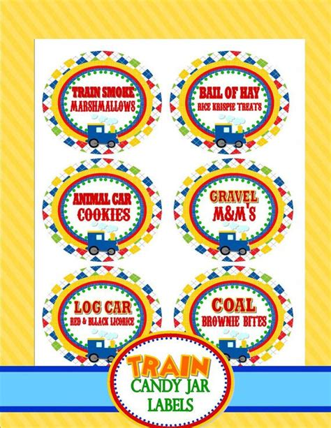 printable train party decorations train party train food label train candy label by