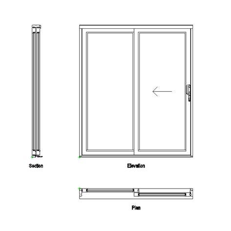2D CAD Sliding Patio Doors   CADBlocksfree  CAD blocks free