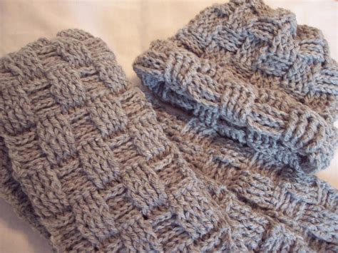 what is crochet weaving womens crocheted grey hat and scarf basket weave