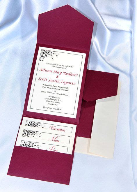 printable pocket wedding invitation kits the 25 best diy wedding invitation kits ideas on