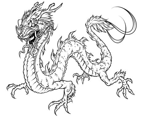 coloring pages of chinese dragons free printable dragon coloring pages for kids