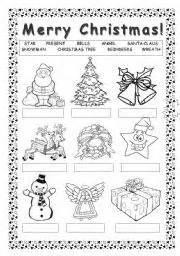 merry christmas worksheet by blackdevil555