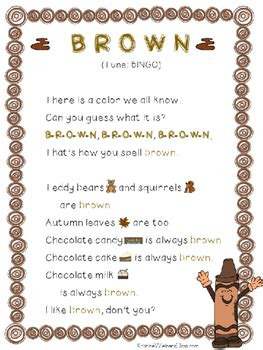 orange color song brown color song a mini unt by kristine weiner tpt