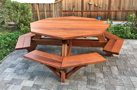 octagon bench octagon picnic table wood picnic table with attached bench