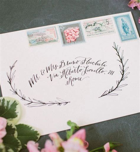 art and design address envelope inspiration calligraphy and vintage sts