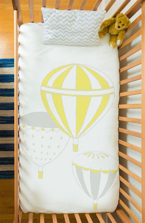 hot air balloon bedding baby bedding set in 100 sateen organic cotton hot air