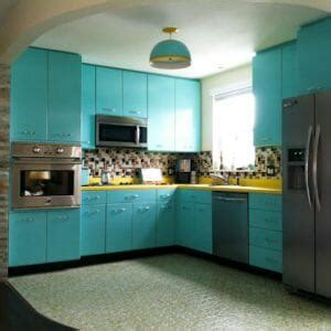 1955 st charles steel kitchen aqua here s my newest cabinets archives retro renovation