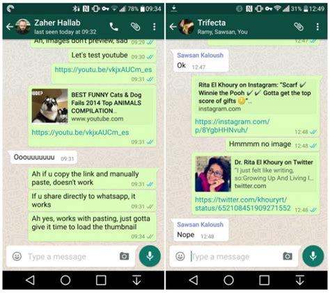 whatsapp android whatsapp for android updated with rich link previews more