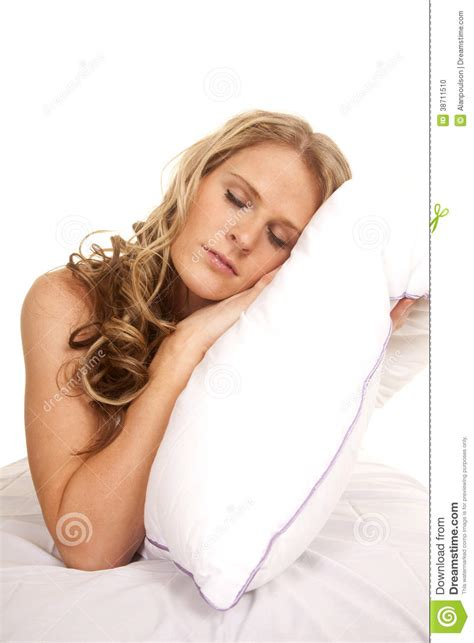 lay on the bed woman bed white pillow lay sleep stock photo image 38711510